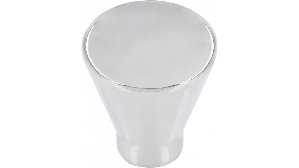 Möbelknopf Oberursel, Schlicht Zinkdruckguß - Chrom glänzend | 24x24x27