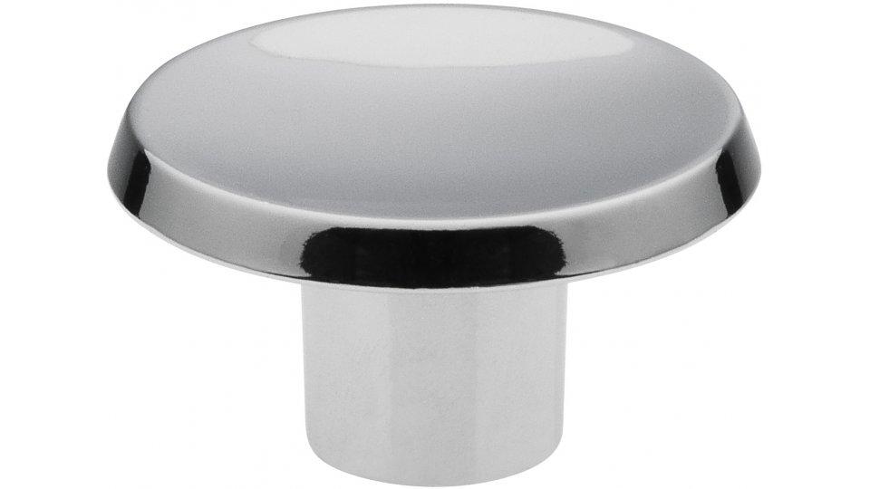 Möbelknopf Pinneberg Schlicht Zinkdruckguß Chrom Glänzend