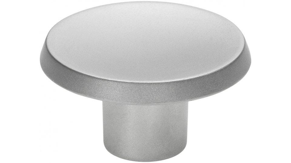Möbelknopf Pinneberg Schlicht Zinkdruckguß Chrom Matt
