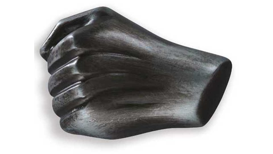 Möbelknopf Pritzwalk, Körperteile,  Faust,  Hand,  Design Kunststoff altsilberfarbig | 0061x35x41