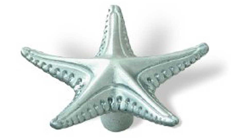 Möbelknopf Radolfzell, Meer,  Muschel,  Seestern,  Design Zinkdruckguß - Chrom matt | 67x12x31