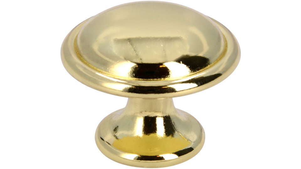 Möbelknopf Ratingen, Klassisch,  Vintage Zinkdruckguß - Glänzend vermessingt   28x28x22
