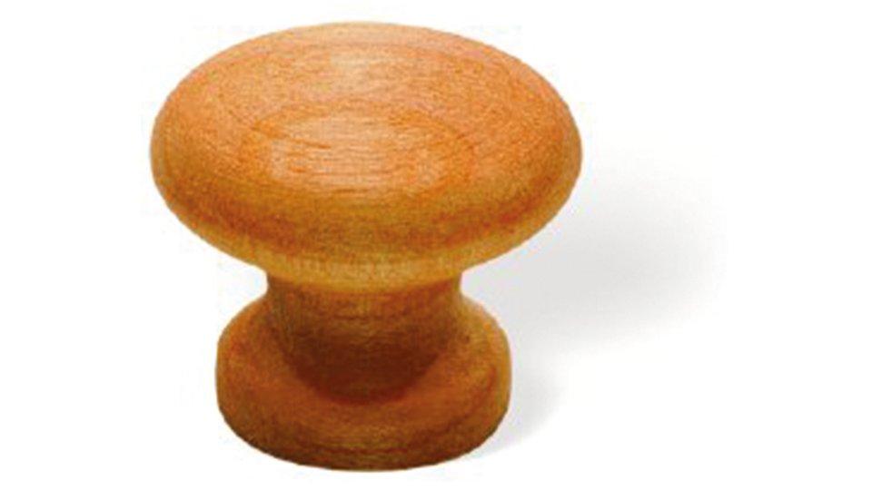 Möbelknopf Rudersberg, Kugel,  Schlicht Holz kirsch natur lackiert | 0030x26x30