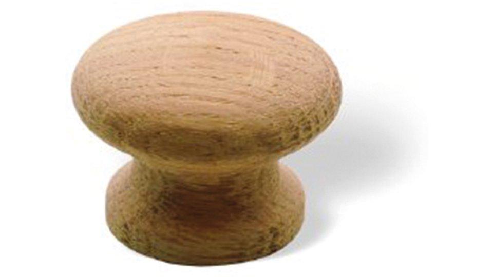 Möbelknopf Rudersberg, Kugel,  Schlicht Holz - Eiche roh | 35x35x27