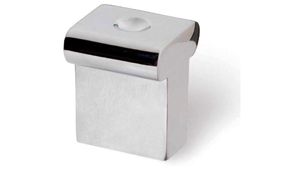 Möbelknopf Soltau, Schlicht Zinkdruckguß - Chrom glänzend | 16x16x20
