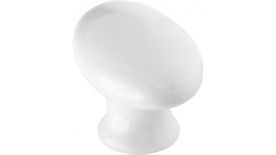 Möbelknopf Stelle, Kugel,  Design Keramik weiß | 0056x40x34