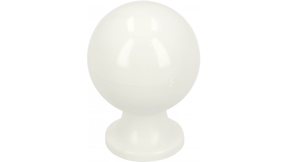 Möbelknopf Trostberg, Kugel,  Schlicht Kunststoff weiß | 0020x29x17