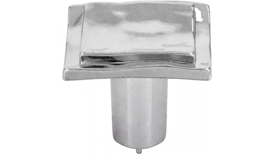 Möbelknopf Wassenberg, Design Zinkdruckguß - Chrom glänzend   24x24x21
