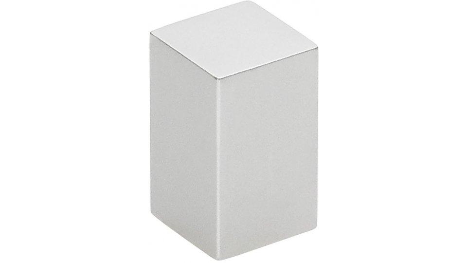 Möbelknopf Weeze, Schlicht Aluminium silber natur matt | 0012x20x12