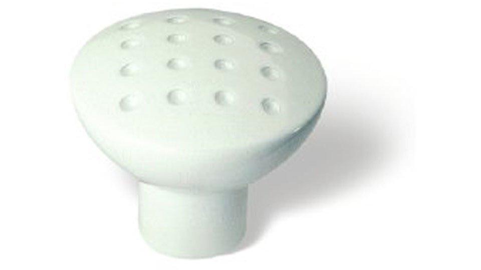 Möbelknopf Weiden, Modern Druckguss reinweiß pulverbeschichtet   0028x24x28