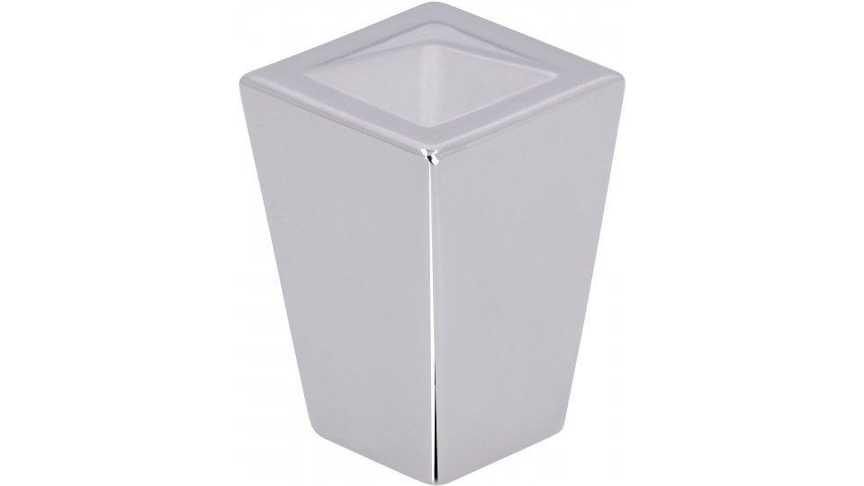 Möbelknopf Werdohl, Modern Zinkdruckguß - Chrom glänzend | 18x18x27