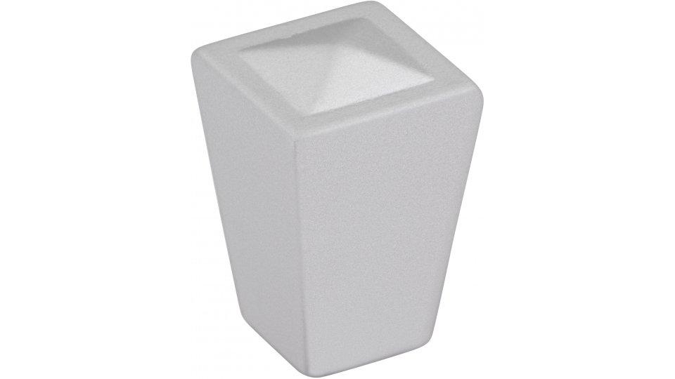 Möbelknopf Werdohl, Modern Druckguss alufarbig pulverbeschichtet | 0018x27x18