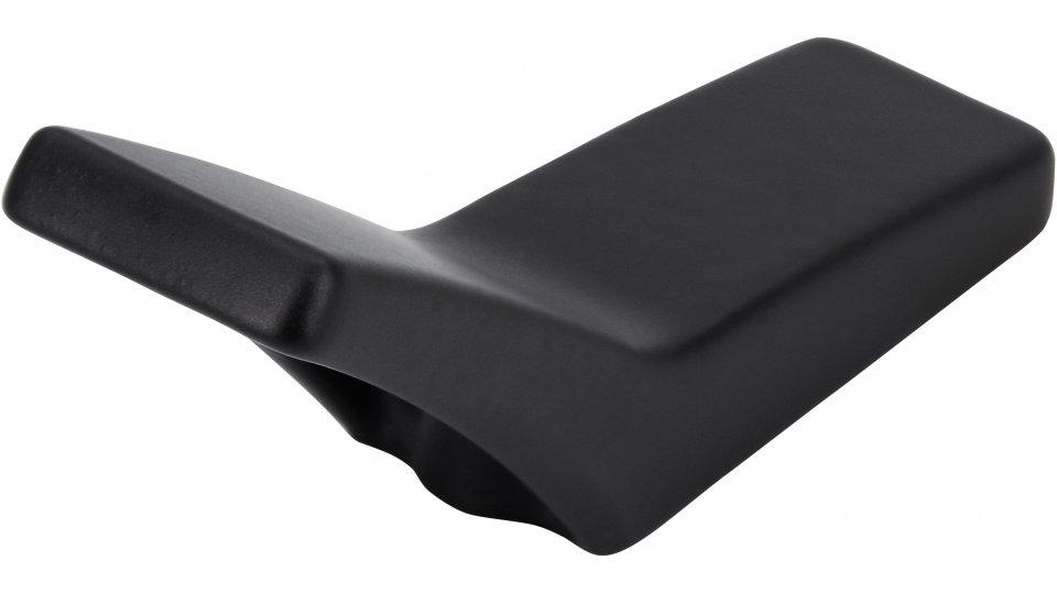 Möbelknopf Werther, Modern,  Design Druckguss schwarz matt pulverbeschichtet | 0055x25x16