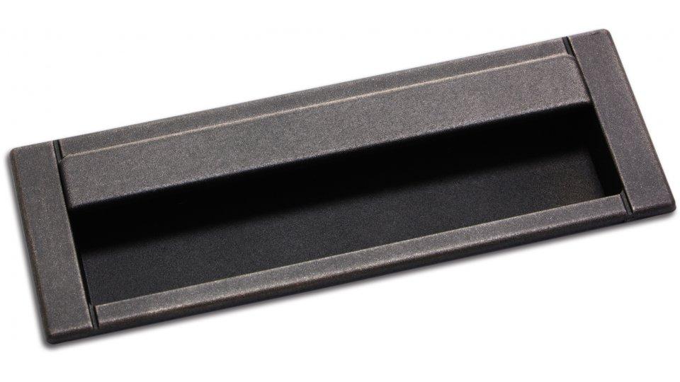Muschelgriff Ainring, Vintage Kunststoff - Grau-Kupfer | 125x45x3 LA:96