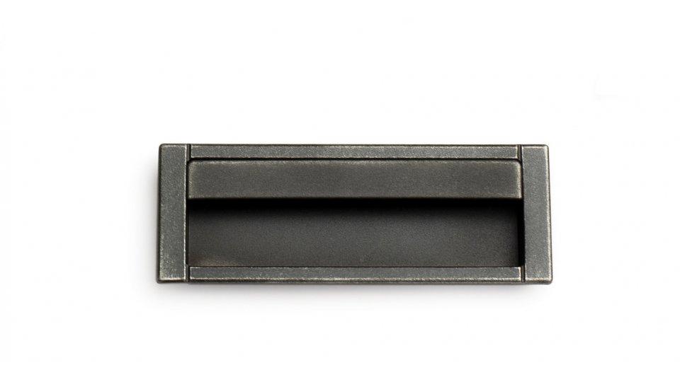 Muschelgriff Ainring, Vintage Kunststoff - Grau-Silber   125x45x3 LA:96