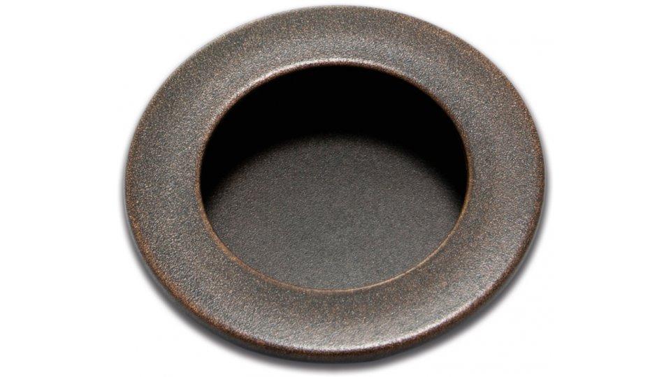 Muschelgriff Aulendorf, Vintage Kunststoff - Grau-Kupfer | 50x50x5
