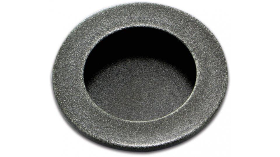 Muschelgriff Aulendorf, Vintage Kunststoff - Grau-Silber | 50x50x5