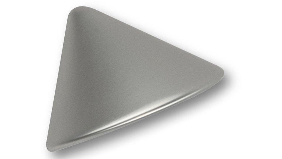 Muschelgriff Garbsen, Modern Kunststoff metallisiert - Weißaluminium | 77x43x28 LA:32