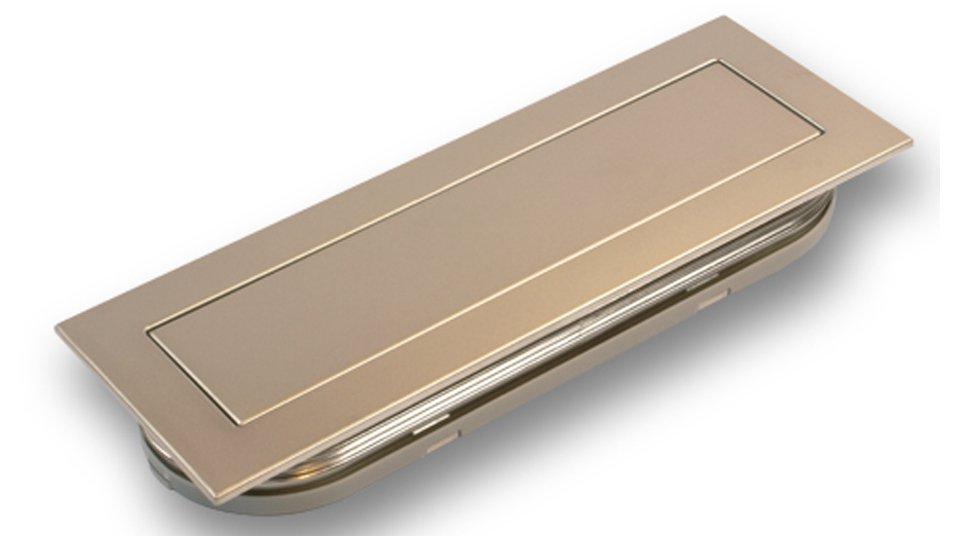 Muschelgriff Gevelsberg, Modern Kunststoff metallisiert - Nickel | 140x50x17 LA:128