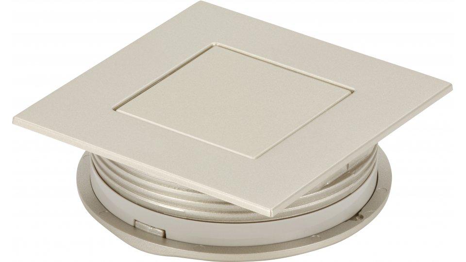 Muschelgriff Kehl, Modern Kunststoff metallisiert - Nickel | 60x60x20 LA:48
