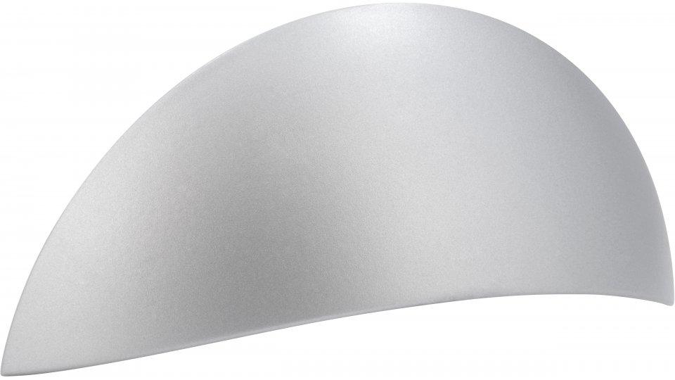 Muschelgriff Losheim, Modern Zinkdruckguß pulverbeschichtet - Alufarbig | 119x54x33 LA:64