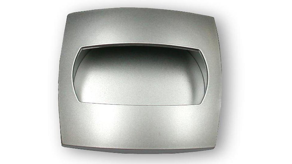 Muschelgriff Mannheim, Modern,  Design Kunststoff metallisiert chrom | 0057x19x57