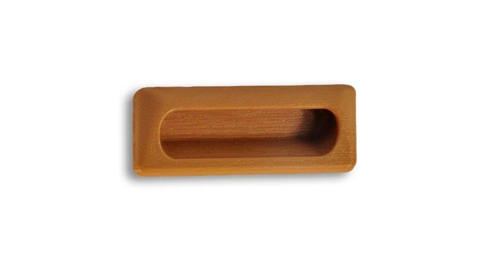 Muschelgriff Nauen, Schlicht Kunststoff buche | 0112x22x46