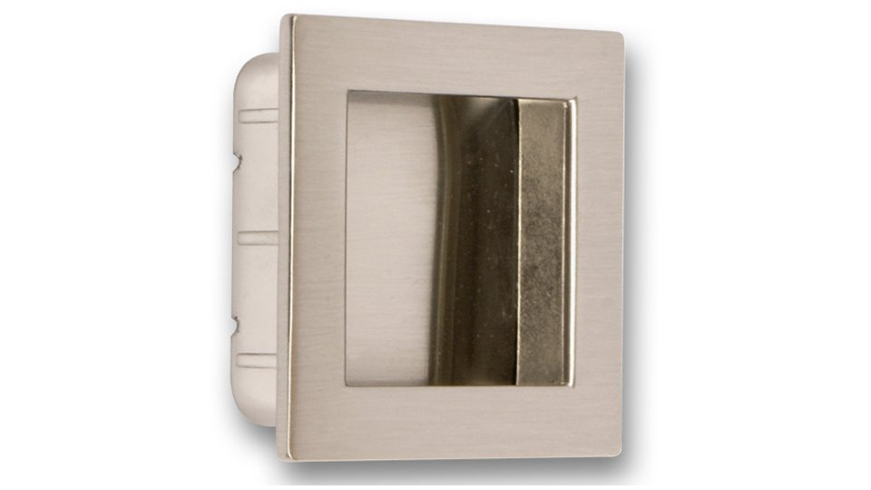 Muschelgriff Ober-Ramstadt, Modern Zinkdruckguß - Vernickelt feingeschliffen | 46x40x13