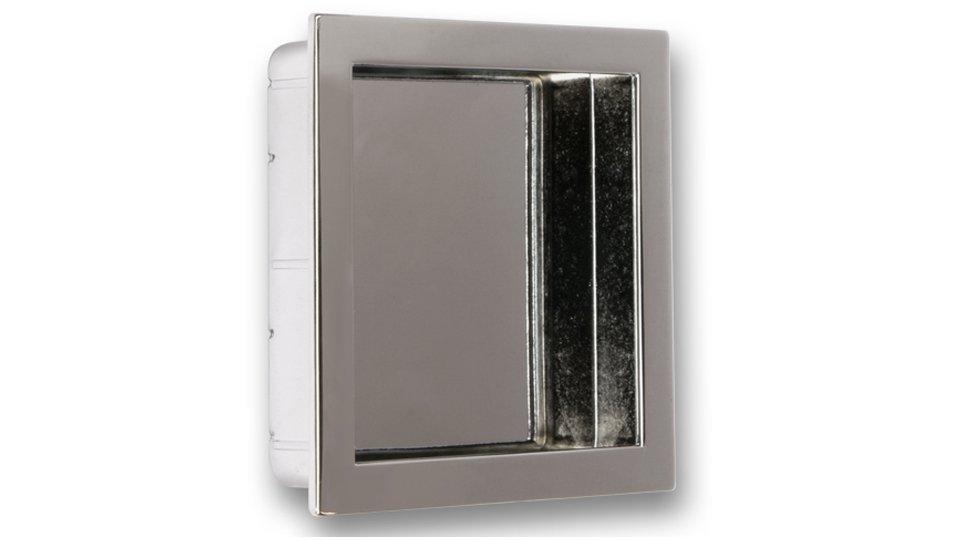 Muschelgriff Ober-Ramstadt, Modern Zinkdruckguß - Chrom glänzend | 76x70x16