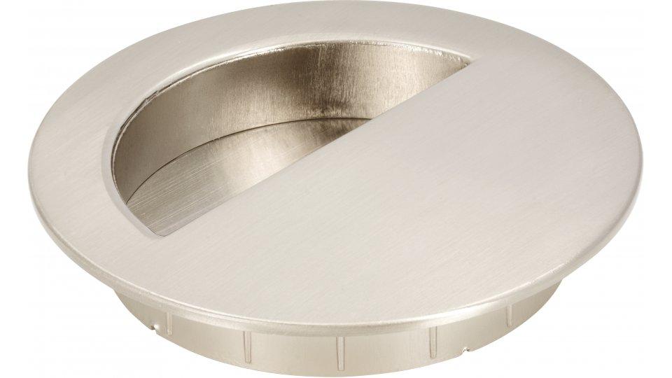 Muschelgriff Ratekau, Modern Druckguss - Stahl vernickelt feingeschliffen   0090x16x70