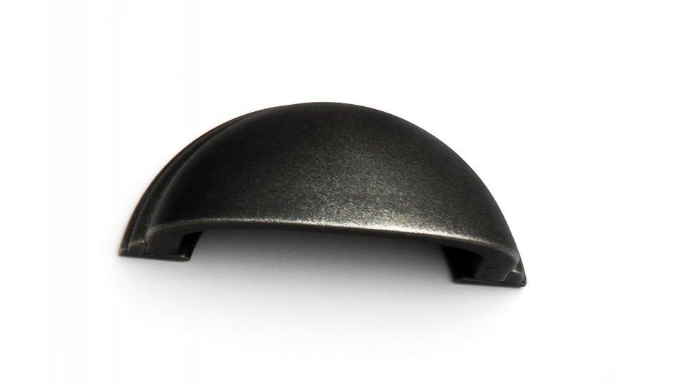 Muschelgriff Twist, Vintage Kunststoff - Grau-Silber | 95x40x35 LA:64