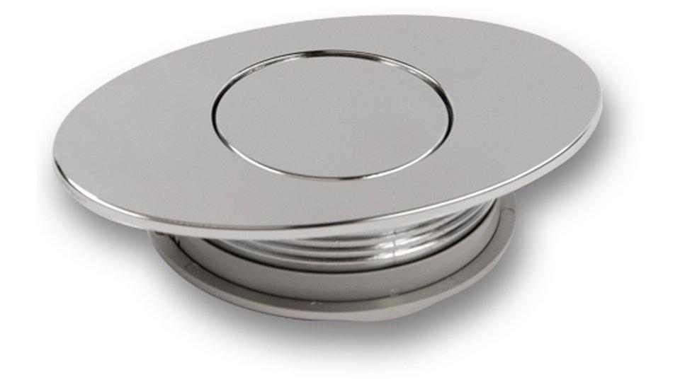 Muschelgriff Winsen, Modern Kunststoff galvanisiert - Chrom glänzend | 90x60x20 LA:48