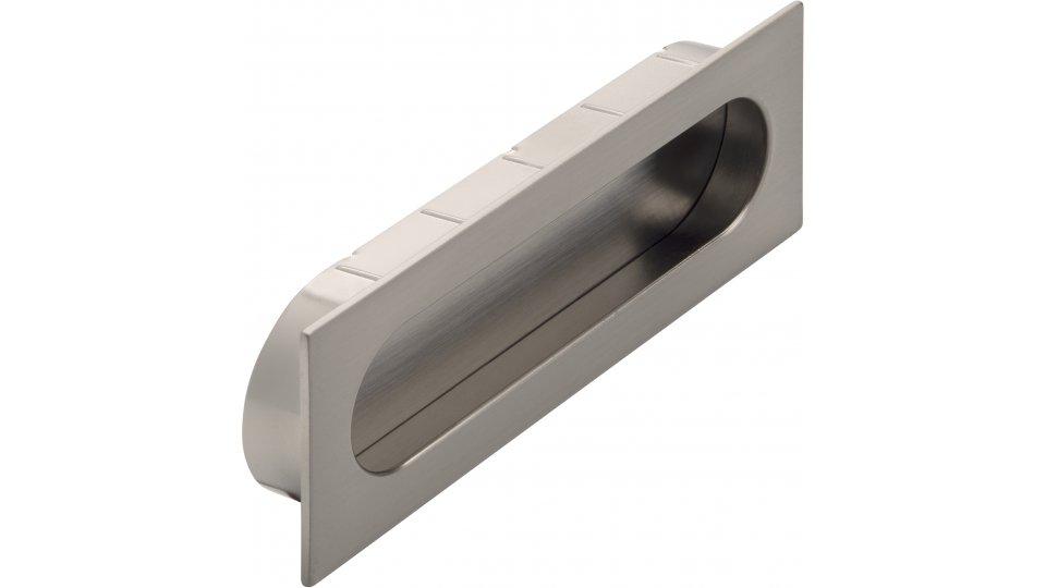 Muschelgriff Wurzen, Modern Druckguss - Stahl vernickelt feingeschliffen | 0125x16x45