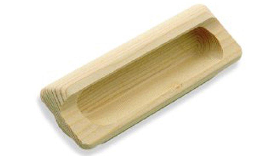 Muschelgriff Zwönitz, Schlicht Holz fichte roh | 0111x39x22