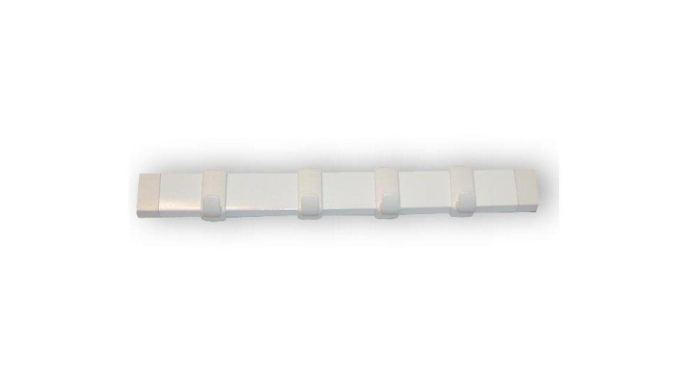 Schlüsselleiste Amberg, Schlicht Kunststoff - Weiß, Kunststoff - Weiß | 245x21x26 LA:230