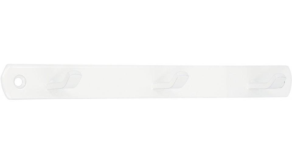 Schlüsselleiste Geesthacht, Schlicht Zinkdruckguß pulverbeschichtet - Reinweiß | 200x20x29 LA:181