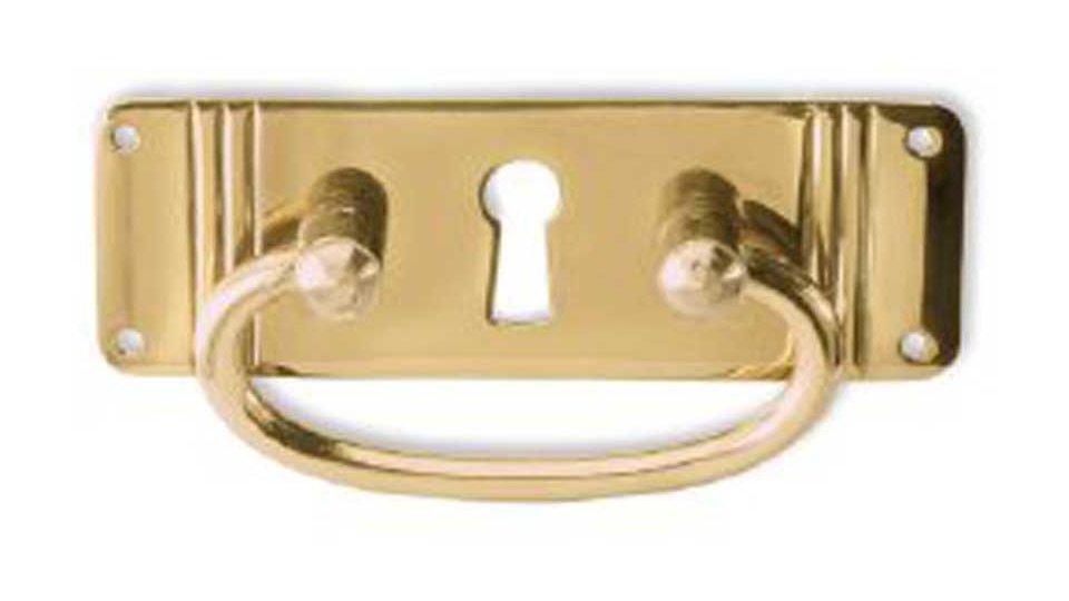 Schlüsselschild Bergkamen, Landhaus,  Klassisch,  Vintage Messing massiv - Messing poliert | 80x36x13 LA:20 x 72