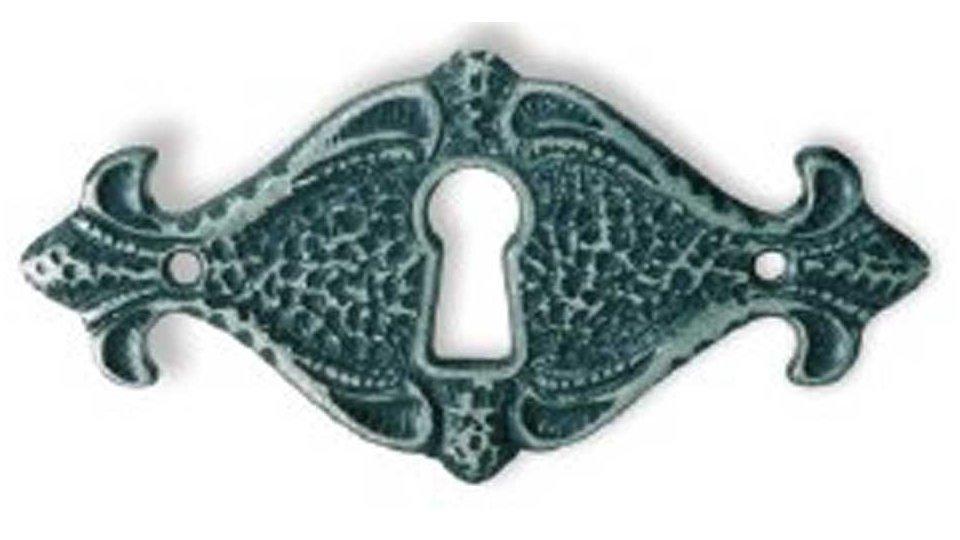 Schlüsselschild Bielefeld, Landhaus,  Klassisch,  Vintage Zinkdruckguß - Eisenfarbig brüniert getrommelt | 78x38x2 LA:50