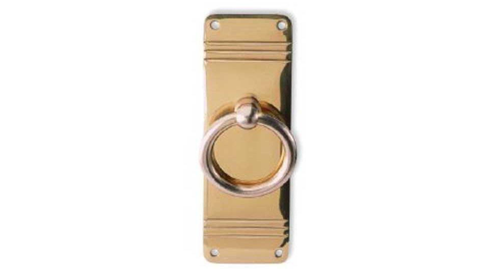 Schlüsselschild Waiblingen, Landhaus,  Klassisch,  Vintage Messing massiv - Messing poliert   80x33x13 LA:20 x 72