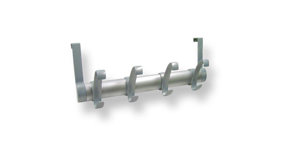 Türgarderobe Merseburg, Modern Kunststoff Metallfolieneffekt - Weißaluminium, Kunststoff - Silber matt | 396x160x98