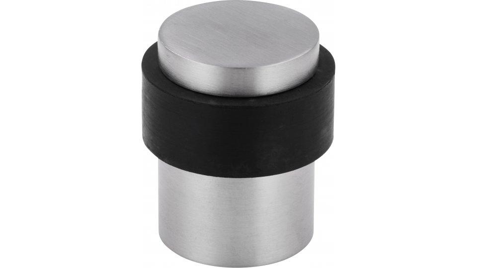 Türstopper Achern, Modern Edelstahl - Edelstahl fein geschliffen , Kunststoff - Schwarz | 35x29x40