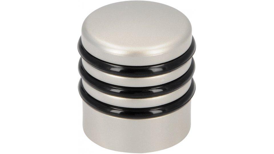 Türstopper Frechen, Modern Kunststoff metallisiert - Nickel, Kunststoff - Schwarz | 30x30x60