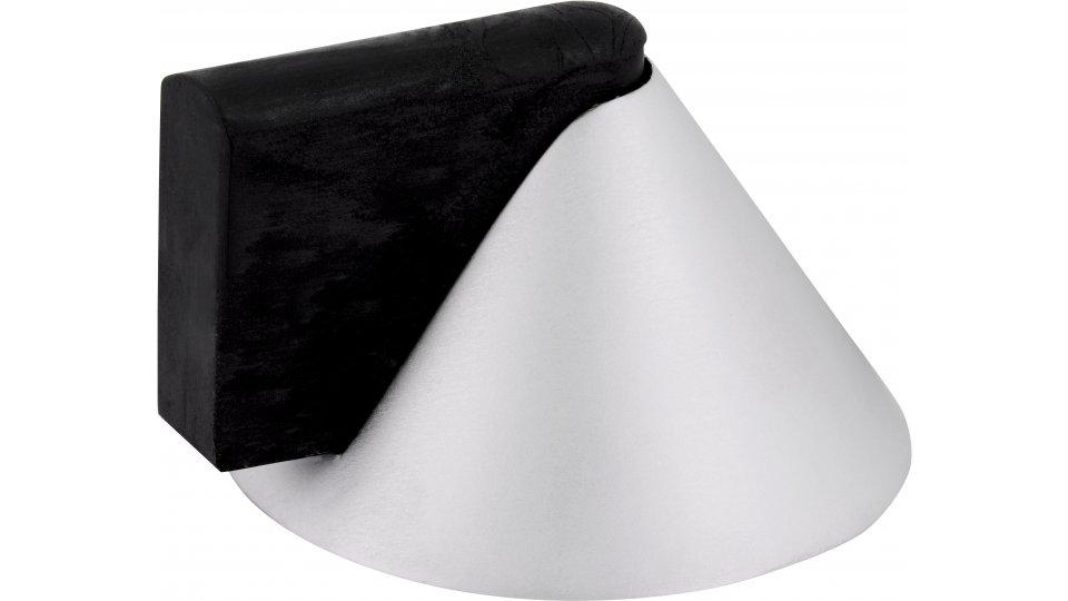 Türstopper Ronnenberg, Design Zinkdruckguß - Chrom matt, Kunststoff - Schwarz | 39x43x25