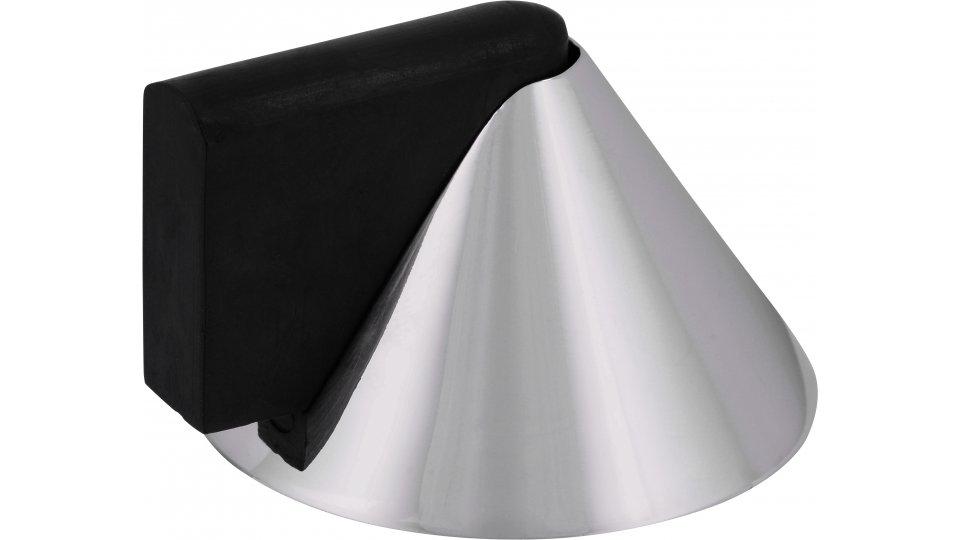 Türstopper Ronnenberg, Design Zinkdruckguß - Chrom glänzend, Kunststoff - Schwarz | 39x43x25