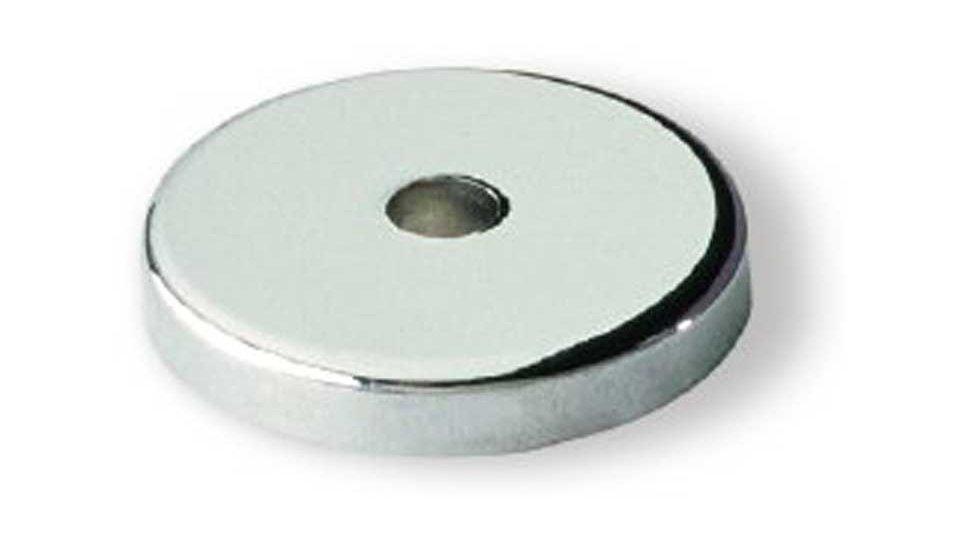 Unterlage , Schlicht Zinkdruckguß - Chrom glänzend | 25x25x4