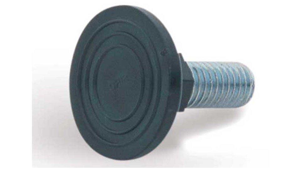 Verstellschraube , Schlicht Kunststoff - Schwarz | 33x31x31