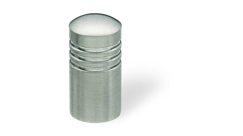 Zylinderknopf Panketal Edelstahl gebürstet | 0015x30x15