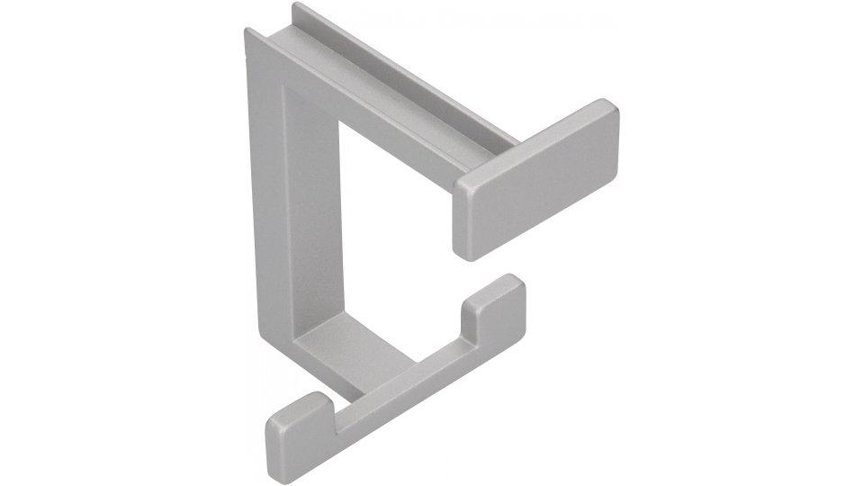 Druckguss alufarbig pulverbeschichtet Schlicht 41 mm x 33 mm x 20 mm LA 10 mm SIRO Kleiderhaken Haan 1133//PB21